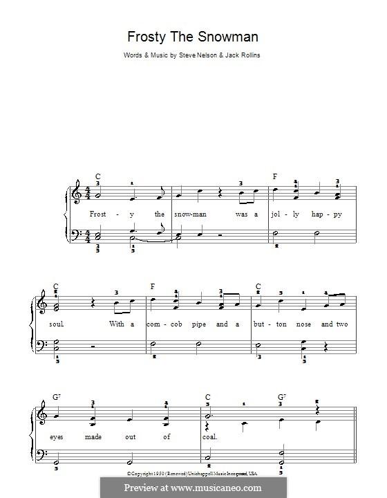 Frosty the Snow Man: Für Klavier (The Ronettes) by Jack Rollins, Steve Nelson
