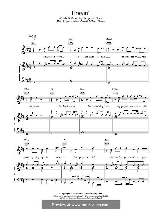 Prayin' (Plan B): Für Stimme und Klavier (oder Gitarre) by Casell, Benjamin Ballance-Drew, Eric Appapoulay, Tom Goss