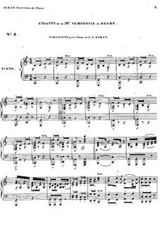 Sinfonie Nr.36 in Es-Dur, Hob.I/36: Andante. Version für Klavier by Joseph Haydn