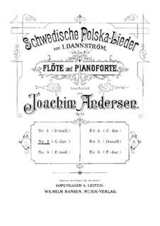 Schwedische Polska-Lieder für Flöte und Klavier, Op.50: Nr.2 in G-Dur by Johan Isidor Dannström