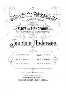 Schwedische Polska-Lieder für Flöte und Klavier, Op.50: Nr.4 in C-Dur by Johan Isidor Dannström