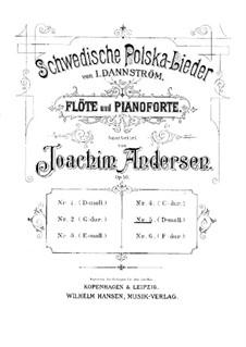 Schwedische Polska-Lieder für Flöte und Klavier, Op.50: Nr.5 in d-Moll by Johan Isidor Dannström