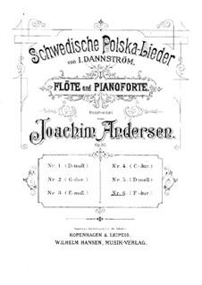 Schwedische Polska-Lieder für Flöte und Klavier, Op.50: Nr.6 in F-Dur by Johan Isidor Dannström