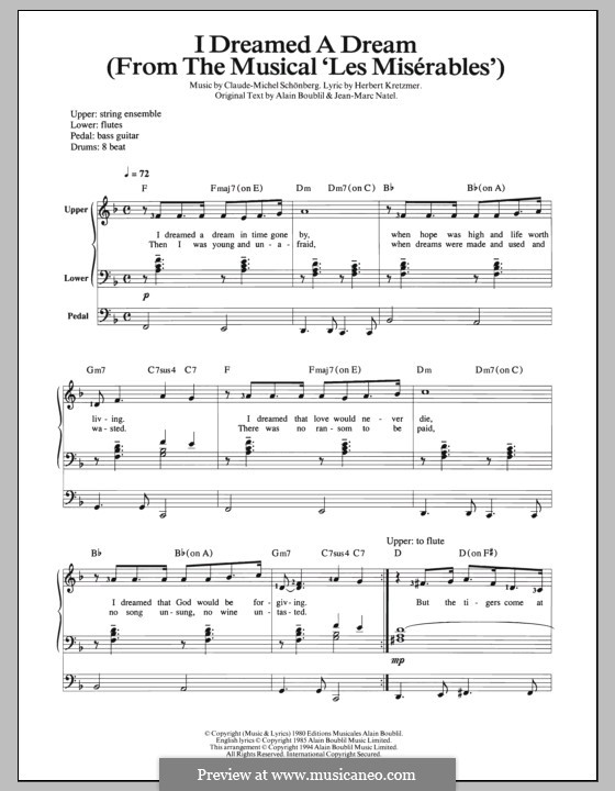 I Dreamed a Dream: Für Orgel by Claude-Michel Schönberg