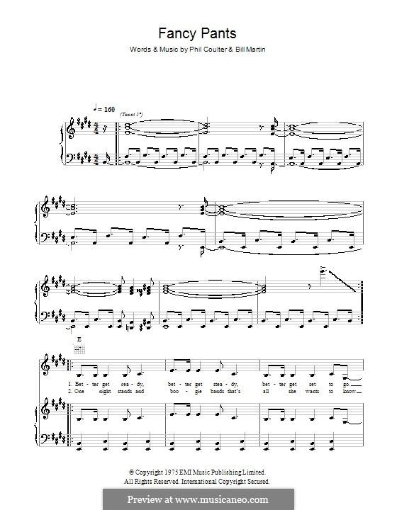 Fancy Pants (Kenny): Für Stimme und Klavier (oder Gitarre) by Billy Martin, Phil Coulter