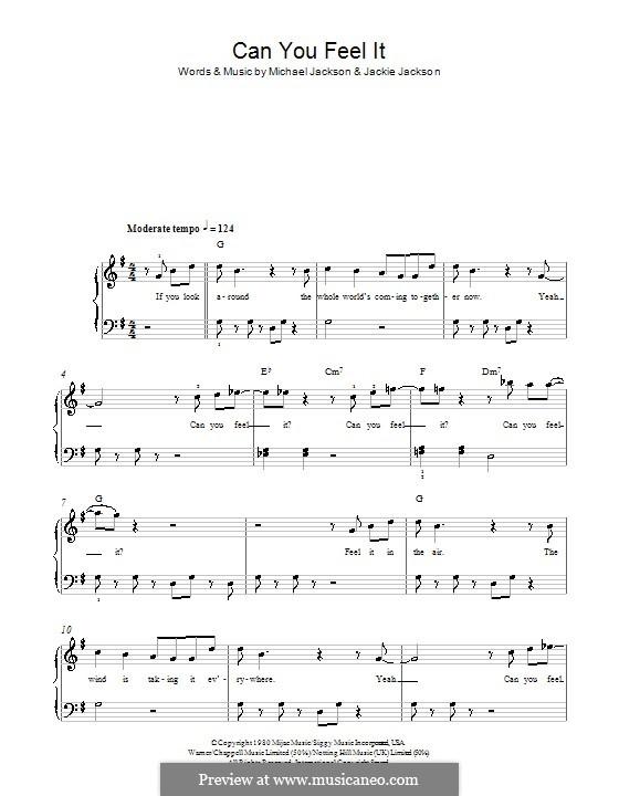 Can You Feel It (The Jacksons): Für Klavier, leicht by Jackie Jackson, Michael Jackson