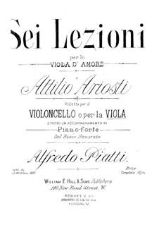 Sei Lezioni: Lezione No.1 in E Flat Major by Attilio Ariosti