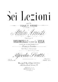 Sei Lezioni: Lezione No.4 in F Major by Attilio Ariosti