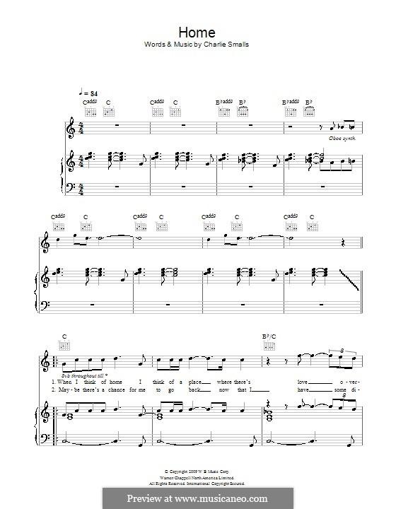 Home: Für Stimme und Klavier (oder Gitarre) by Charlie Smalls