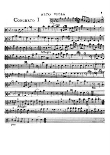 Sechs Konzerte, Op.2: Alto viola part by Charles Avison