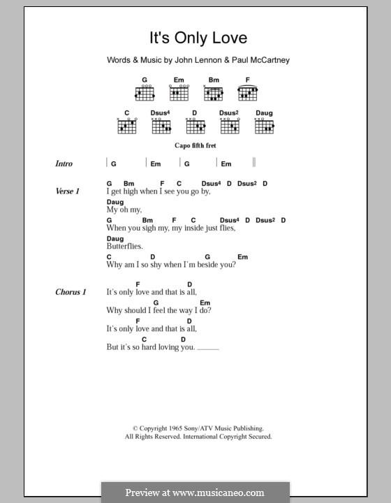 It Won't Be Long (The Beatles): Text und Akkorde by John Lennon, Paul McCartney