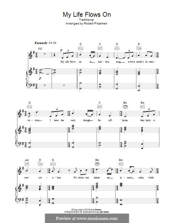 My Life Flows on: Für Stimme und Klavier (oder Gitarre) by folklore