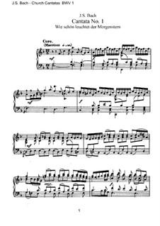 Wie schön leuchtet der Morgenstern, BWV 1: Klavierauszug mit Singstimmen by Johann Sebastian Bach