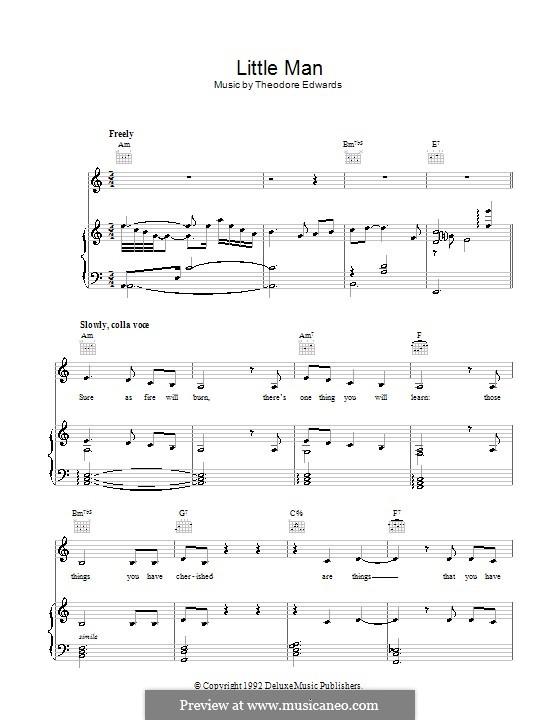 Little Man: Für Stimme und Klavier (oder Gitarre) by Theodore Edwards