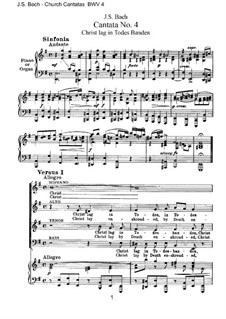 Christ lag in Todesbanden, BWV 4: Klavierauszug mit Singstimmen by Johann Sebastian Bach