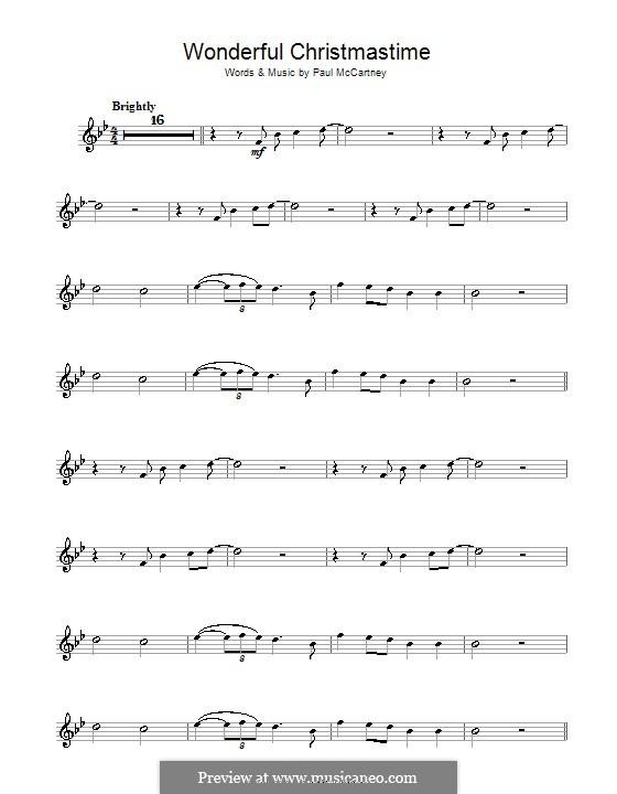 Wonderful Christmastime: Für Violine by Paul McCartney
