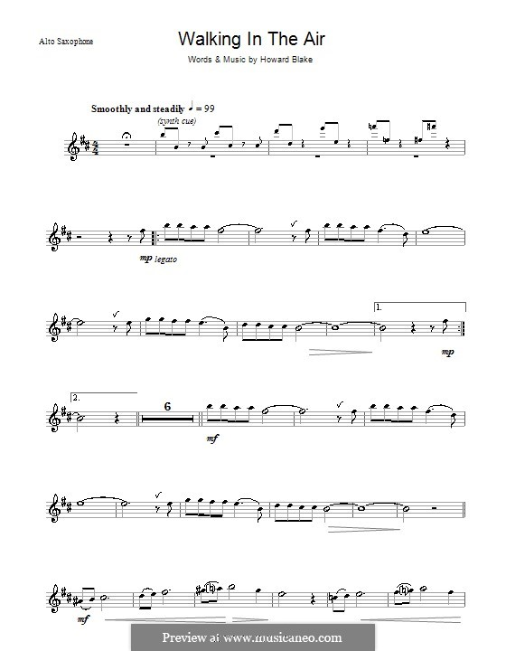 Walking in the Air: Für Altsaxophon by Howard Blake