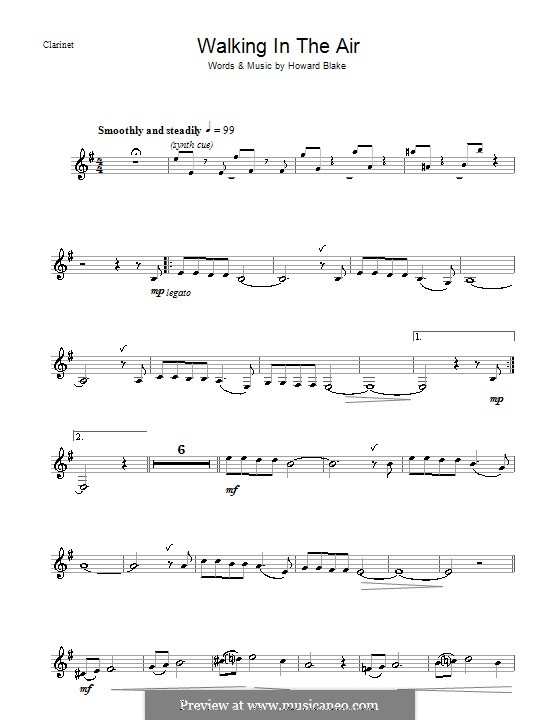 Walking in the Air: Für Klarinette by Howard Blake
