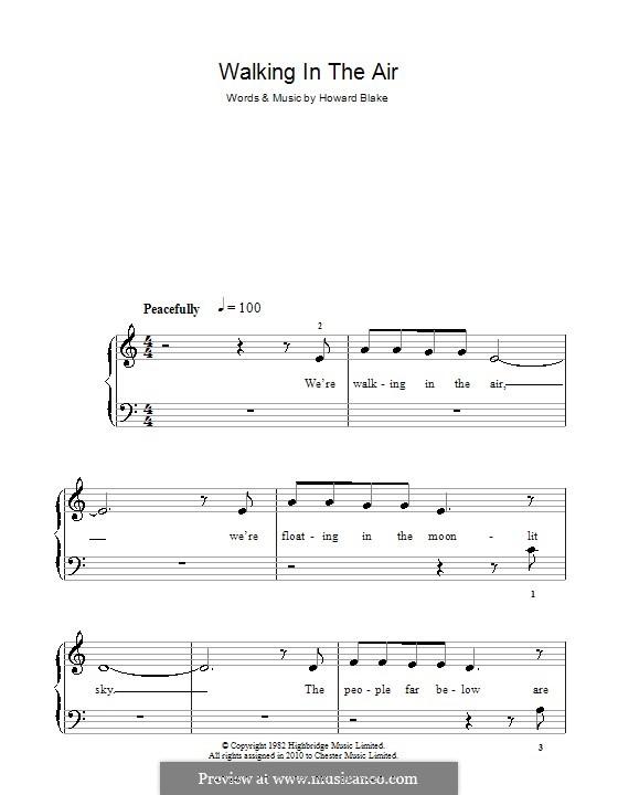Walking in the Air: Für Klavier, leicht by Howard Blake