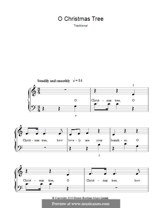 O Tannenbaum, für Klavier: Klavierversion für Anfänger by folklore