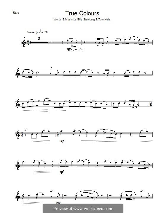 True Colors: Für Flöte by Billy Steinberg, Tom Kelly