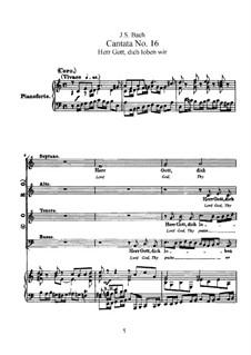 Herr Gott, dich loben wir, BWV 16: Klavierauszug mit Singstimmen by Johann Sebastian Bach