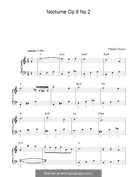 Nr.2 in Es-Dur: Version in C-Dur by Frédéric Chopin