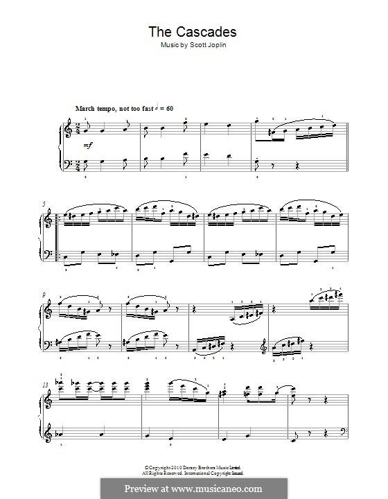 The Cascades: Für Klavier, leicht by Scott Joplin
