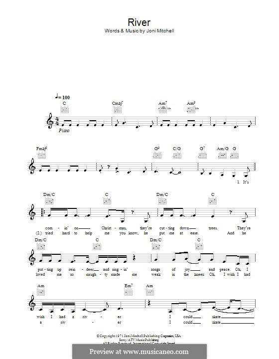 River: Melodie, Text und Akkorde by Joni Mitchell