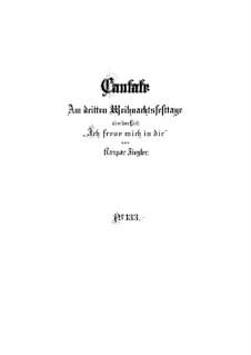 Ich freue mich in dir, BWV 133: Vollpartitur by Johann Sebastian Bach