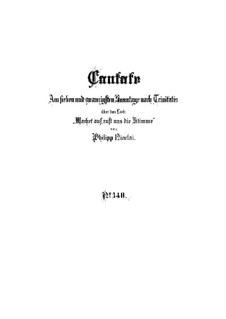 Vollständiger Kantate: Partitur by Johann Sebastian Bach