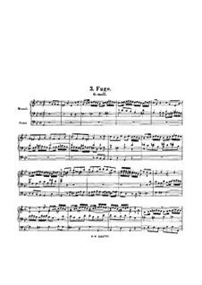 Aus der Tiefen rufe ich, Herr, zu dir, BWV 131: Fuge für Orgel by Johann Sebastian Bach