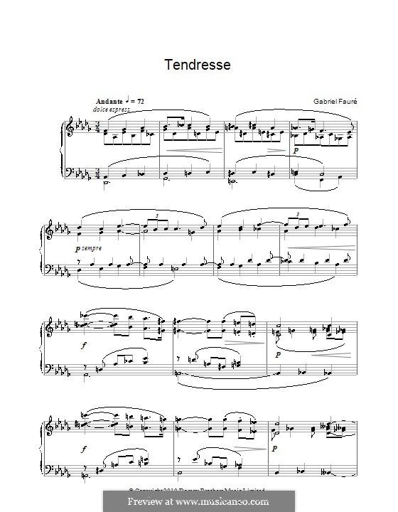 Tendresse: Tendresse by Gabriel Fauré