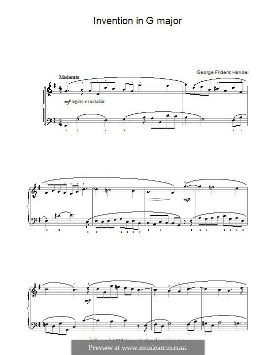 Invention in G-Dur: Invention in G-Dur by Georg Friedrich Händel