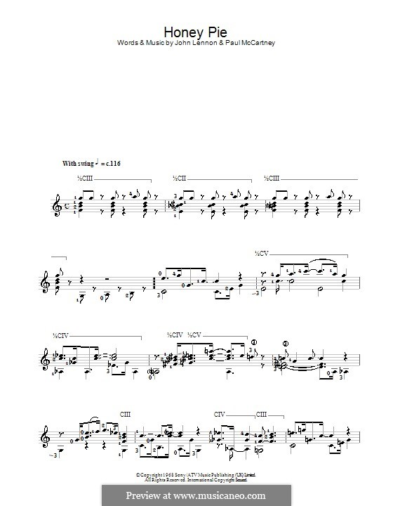Honey Pie (The Beatles): Für Gitarre by John Lennon, Paul McCartney