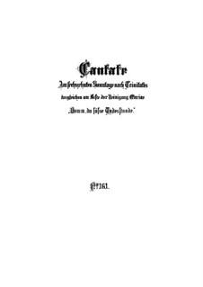 Komm, du süsse Todesstunde, BWV 161: Vollpartitur by Johann Sebastian Bach