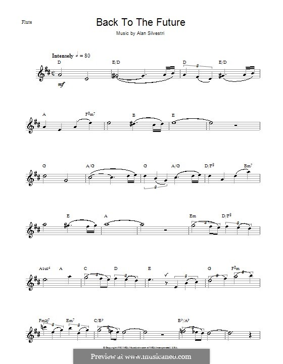 Back to the Future (Theme): Für Flöte by Alan Silvestri