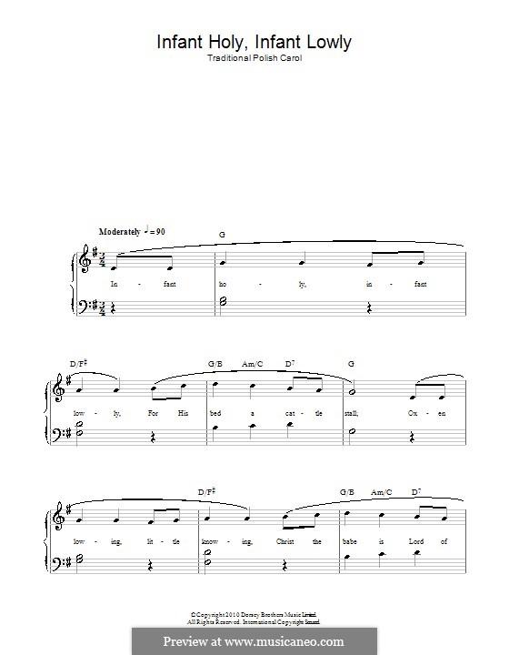 Infant Holy, Infant Lowly: Für Stimme und Klavier (oder Gitarre) by folklore