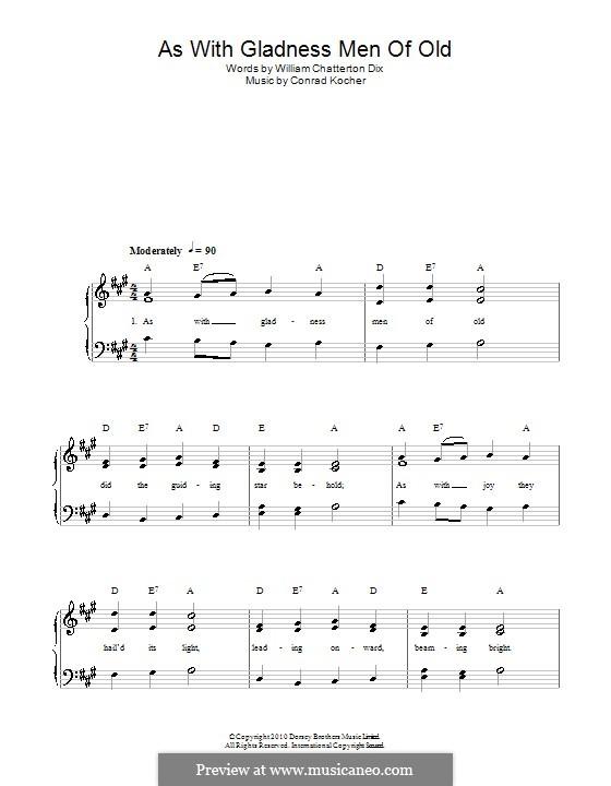 As with Gladness Men of Old: Für Stimme und Klavier by folklore