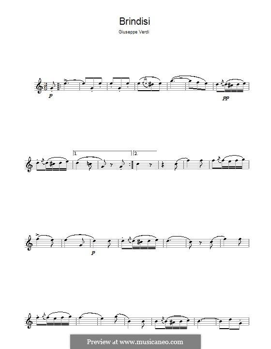 Libiamo ne'lieti calici (Brindisi): Für Altsaxophon by Giuseppe Verdi