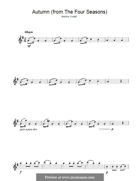 Violinkonzert Nr.3 in F-Dur 'Herbst', RV 293: Movement III. Version for alto saxophone by Antonio Vivaldi