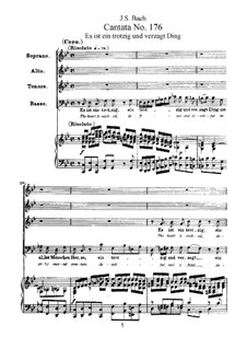 Es ist ein trotzig und verzagt Ding, BWV 176: Bearbeitung für Stimmen und Klavier by Johann Sebastian Bach