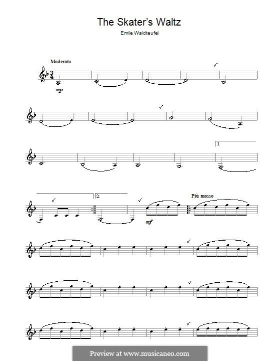 The Skaters Waltz: Für Klarinette by Emil Waldteufel