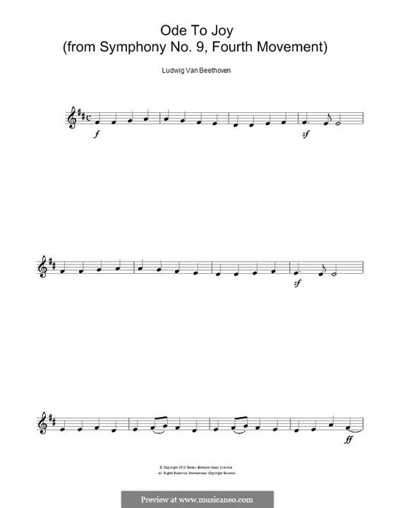 Ode an die Freude: Version für Flöte by Ludwig van Beethoven
