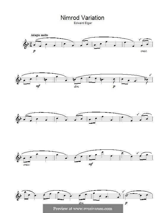 Variation Nr.9 'Nimrod': Für Flöte by Edward Elgar
