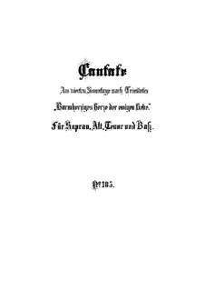 Barmherziges Herze der ewigen Liebe, BWV 185: Vollpartitur by Johann Sebastian Bach