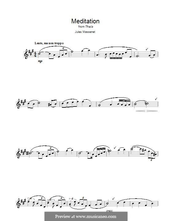 Meditation: Für Saxophon by Jules Massenet