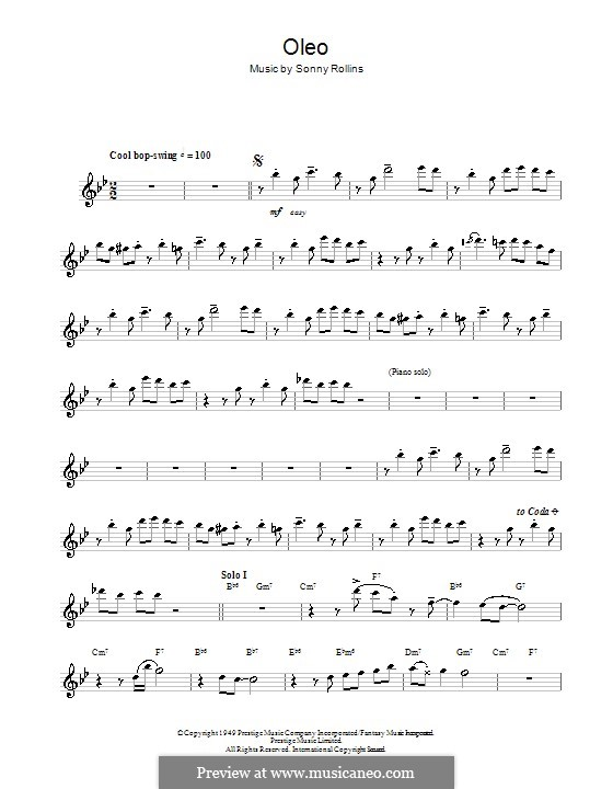 Oleo: Für Flöte by Sonny Rollins