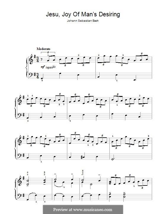 Wohl mir, dass ich Jesum habe, für Klavier: Für einen Interpreten by Johann Sebastian Bach