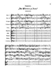 Ihr Tore zu Zion, BWV 193: Vollpartitur by Johann Sebastian Bach